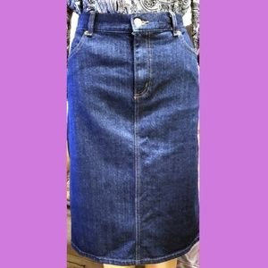*Just In* CHAPS - Denim Pencil Skirt